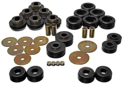 20 Piece Prothane 7-110-BL Black Body and Cab Mount Bushing Kit