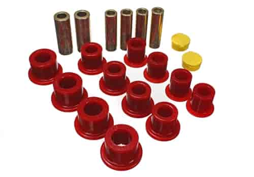 Energy Suspension 4-2148R - Energy Suspension Front & Rear Leaf Spring Bushings