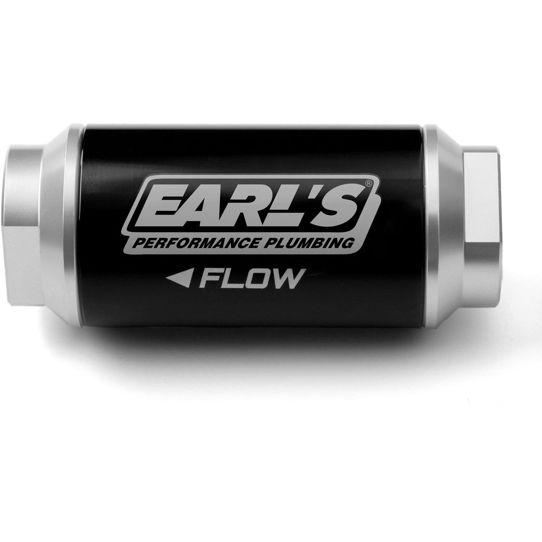 Earls 230628 100 Micron Billet In Line Fuel Filter Jegs Text Flow