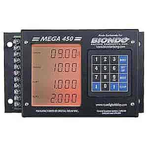 biondo mega450 br mega 450 digital delay box black case jegs rh jegs com Basic Race Car Wiring Diagram Biondo Mega 450 Wiring Diagram Transmission Brake