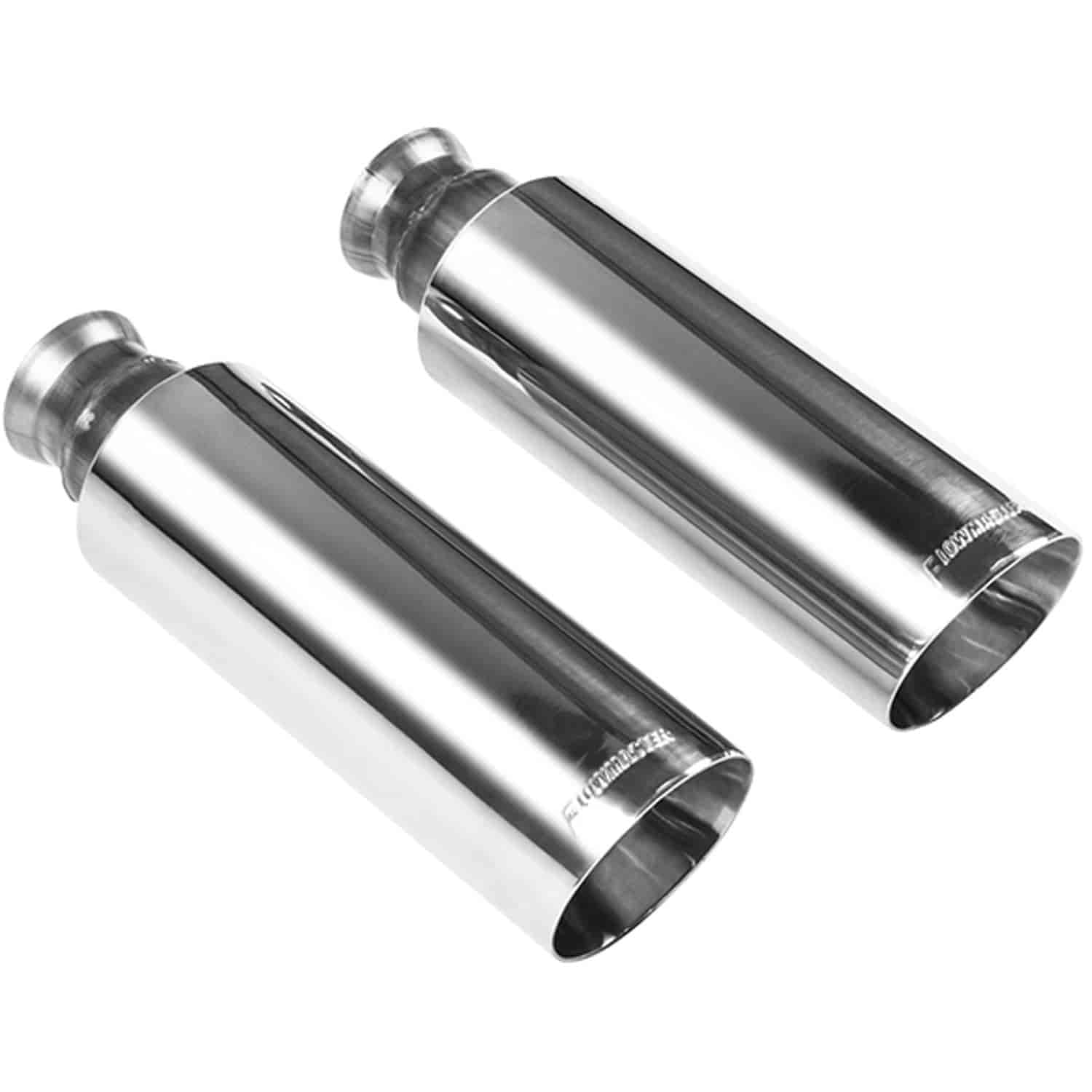 Flowmaster Polished Stainless Steel Exhaust Tips Clamp-On