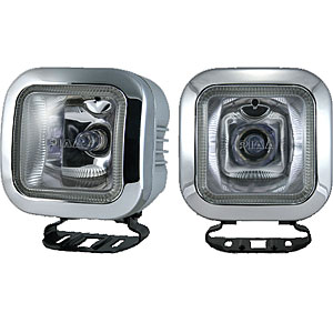 PIAA 4152 - PIAA 410 Series 3'' Square Driving Light Kit