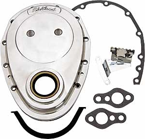 Edelbrock 4240 - Edelbrock Aluminum Timing Covers