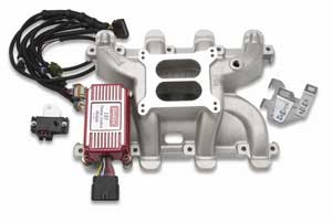 Edelbrock 7118 - Edelbrock Performer RPM Chevrolet LS1 Carbureted Intake Manifold Kit
