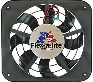 Flex-a-lite 111 - Flex-a-lite S-Blade Low Profile Universal Electric Fans