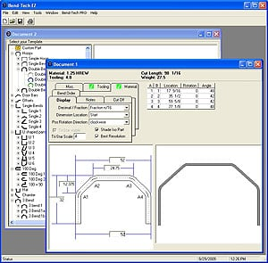 Mittler Brothers Bend-Tech EZ Software Designed for Tube Bending Projects  with simple 2D parts (completed parts that lay flat)