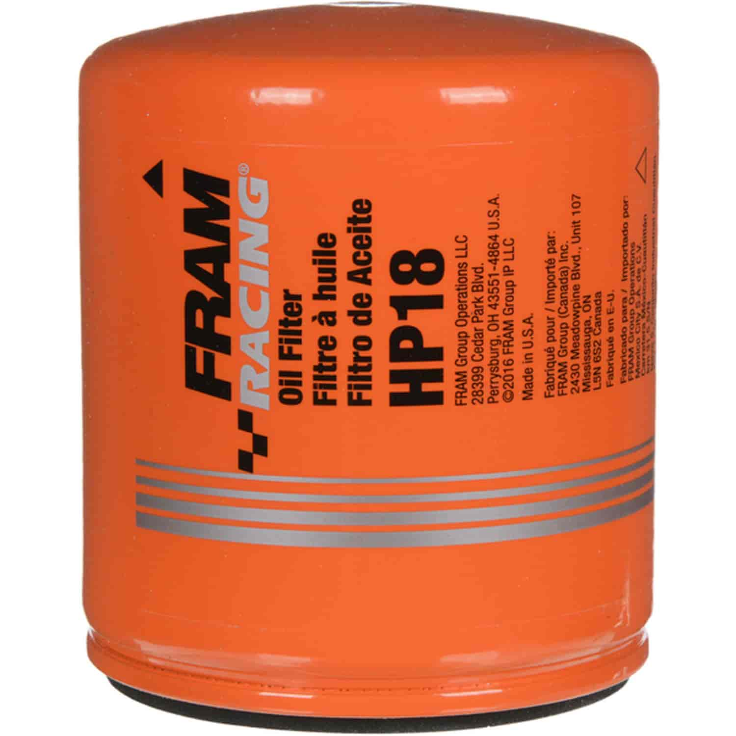 Fram Hp18 Hp Series Oil Filter For Gm Ls3 Ls7 Ls9 Jegs 2015 Gmc Canyon Location