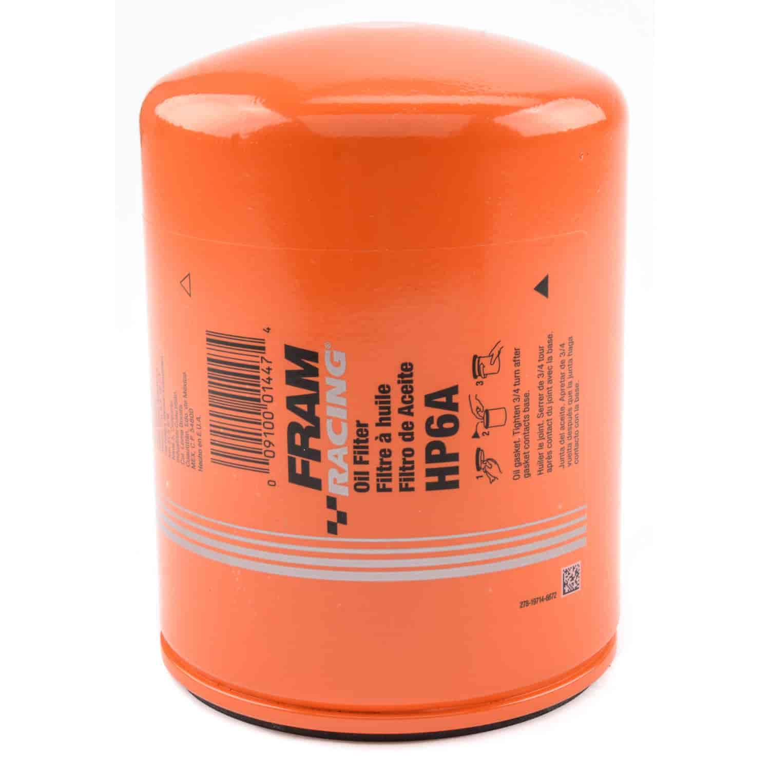 fram hp6a hp series oil filter thread size 1 1 2 12 jegs