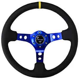 NRG Innovations ST-006R-BL-Y - NRG Innovations Deep Dish Steering Wheels