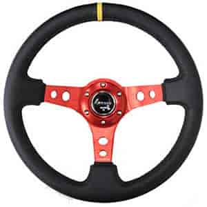 NRG Innovations ST-006RD-Y - NRG Innovations Deep Dish Steering Wheels