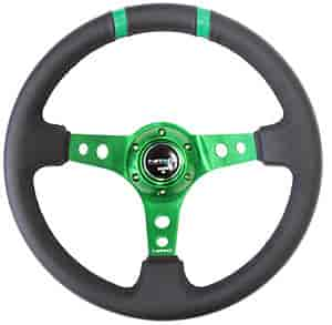 NRG Innovations ST-016R-GN - NRG Innovations Limited Edition Sport Steering Wheels