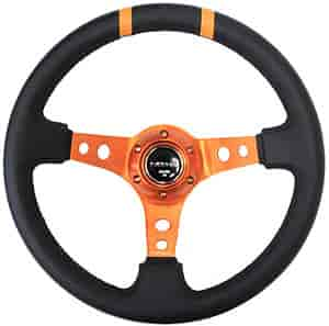 NRG Innovations ST-016R-OR - NRG Innovations Limited Edition Sport Steering Wheels