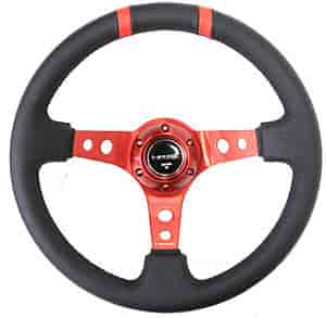 NRG Innovations ST-016R-RD - NRG Innovations Limited Edition Sport Steering Wheels