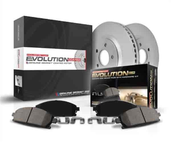 Power Stop CRK8159 Front /& Rear Kit-Coated Rotors and Z23 Ceramic Brake Pads