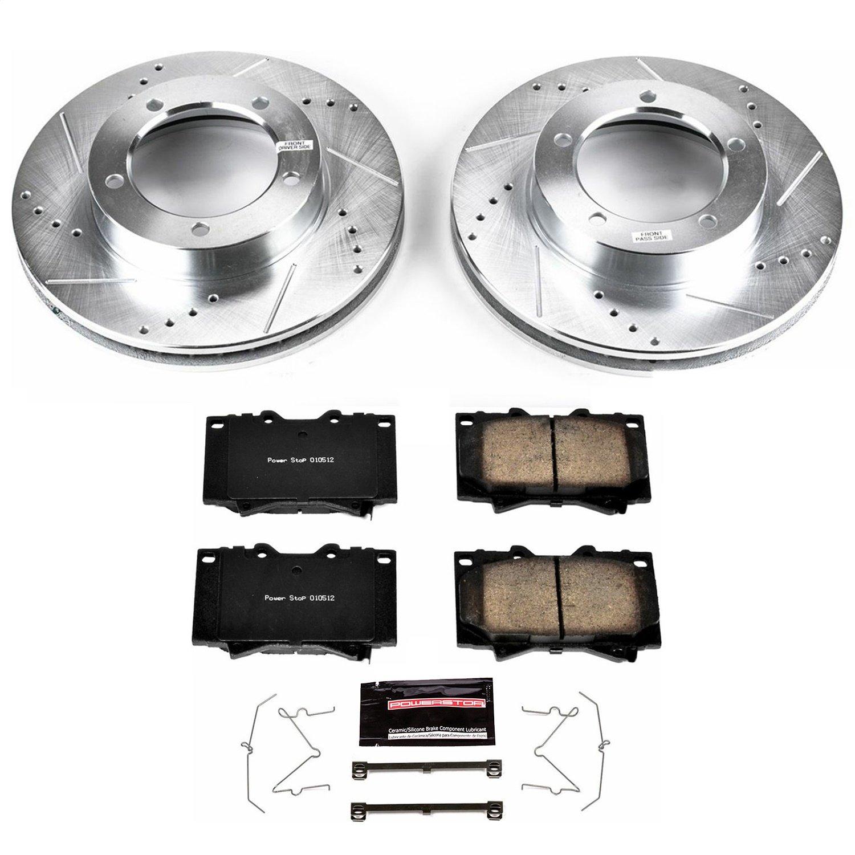 Front Brake Rotors+Pads Toyota Land Cruiser Lexus LX470  1998 to 2007
