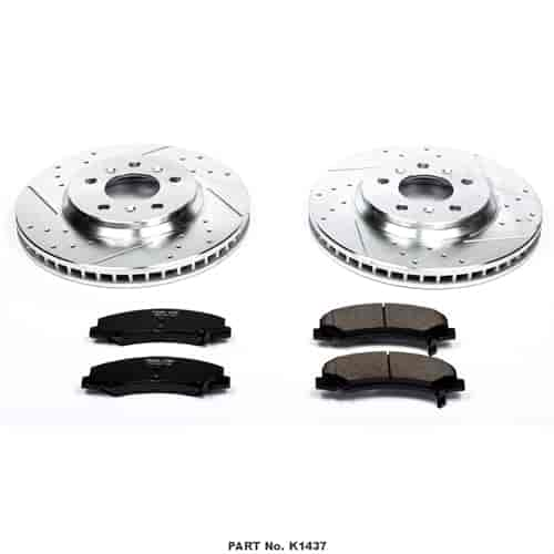 2009 2010 2011 for Buick Lucerne 3.8L Disc Brake Rotors and Ceramic Pads Front