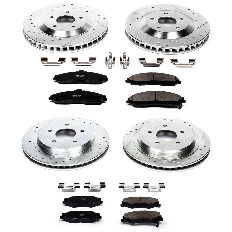 For 1998 2003 Chevrolet Corvette Base 5.7L F+R Brake Ceramic Pads And Rotors
