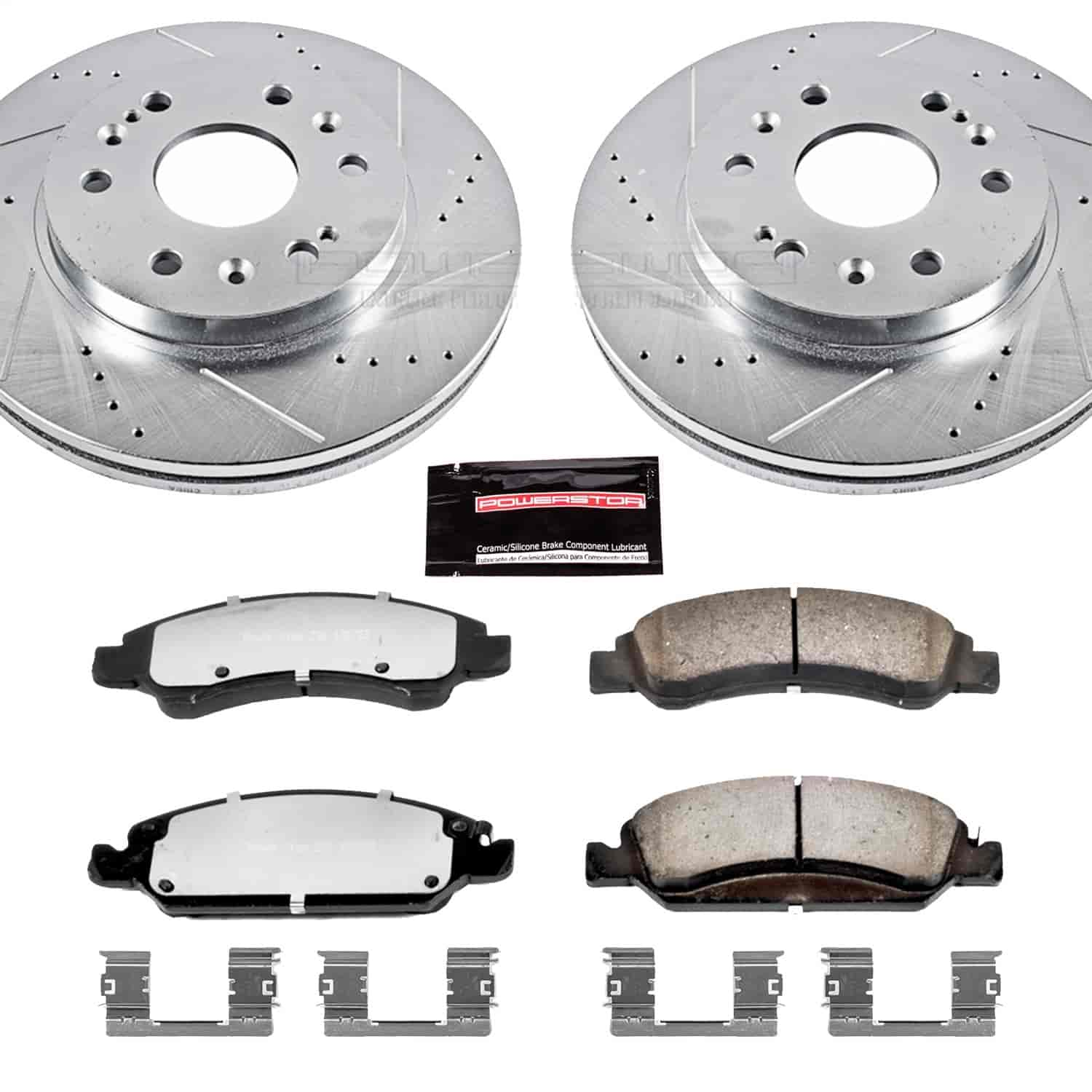 Front Rear Drill Slot Brake Rotors and Pads for 2005 GMC Sierra 1500 SLT 5.3L