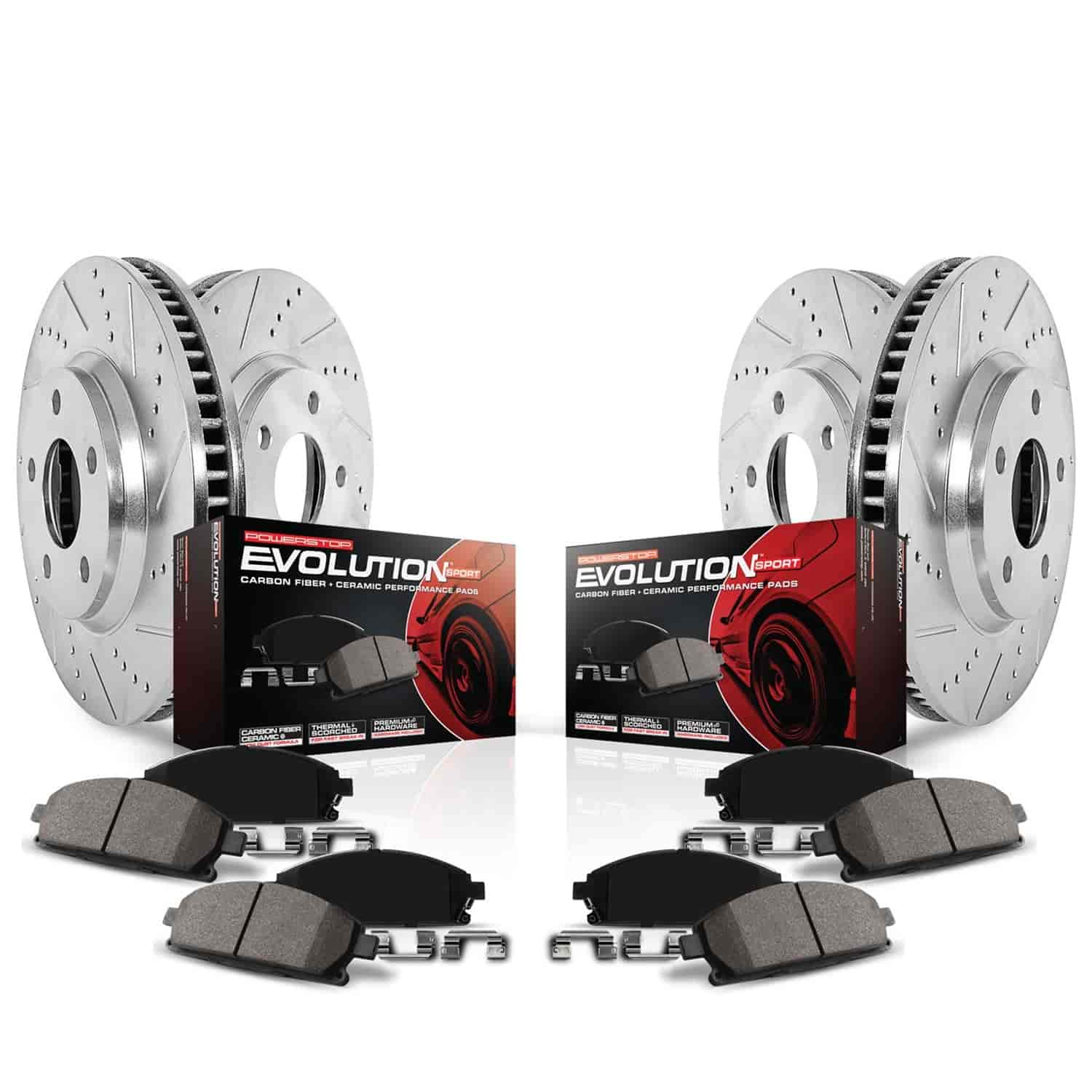 Front and Rear Brake Ceramic Pads For Jeep Wrangler 2003-2006 Performance