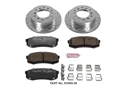 Rear Ceramic Brake Pad Set For Toyota Sequoia 2001-2007