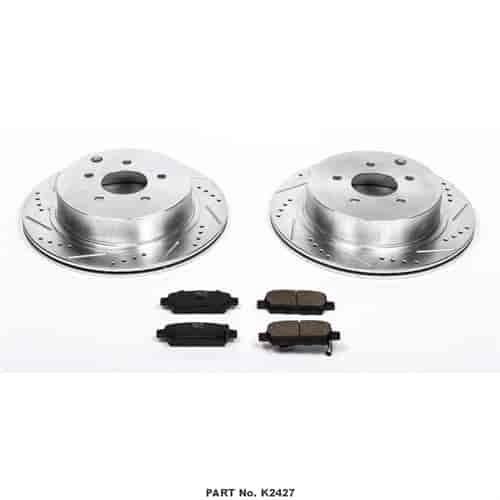 Powerstop Brake Disc and Pad Kits 2-Wheel Set Rear New for Nissan K2427