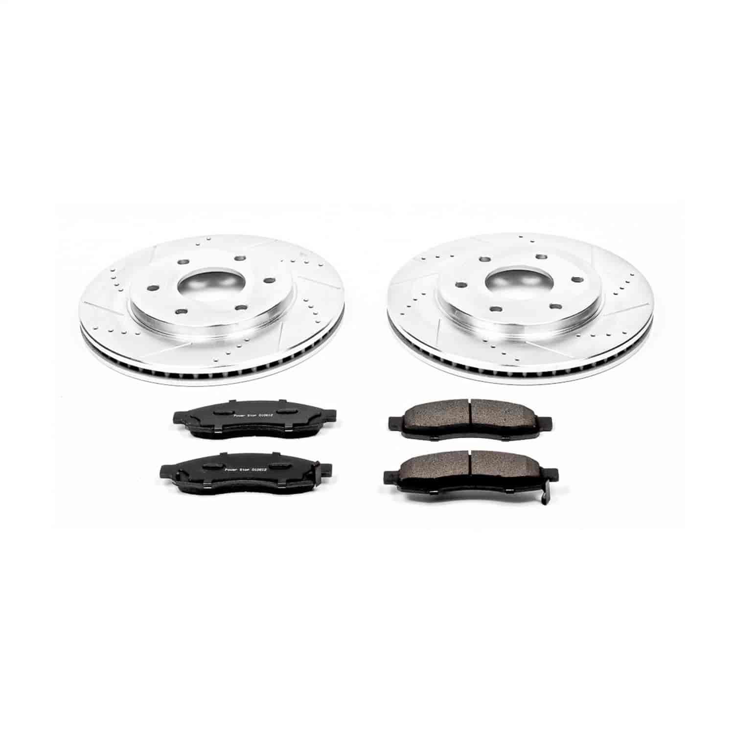 Power Stop AR8751XPR Front Evolution Drilled /& Slotted Rotor Pair
