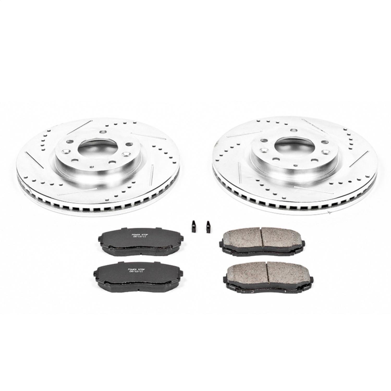 Front /& Rear Ceramic Brake Pad /& Coated Rotor Kit for 2007-2012 Mazda CX-7