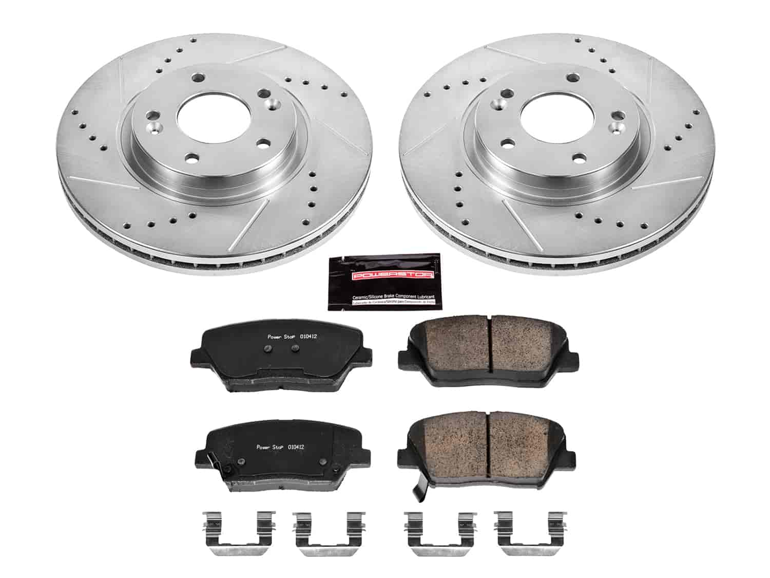 FRONT BLACK DRILLED And SLOTTED BRAKE ROTORS /& CERAMIC Pads For 06-11 Hybrid