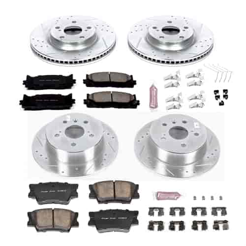 KC869 Powerstop 2-Wheel Set Brake Disc and Caliper Kits Front for 323 325 328
