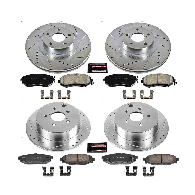 Front Rear Disc Rotors /& Ceramic Brake Pads For 2016-2017 Subaru Crosstrek