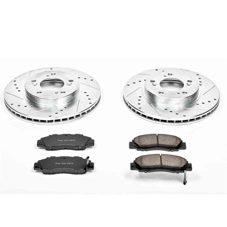 Odyssey Legend TL RL Type R |Front Rotors w//Metallic Pad OE Brakes