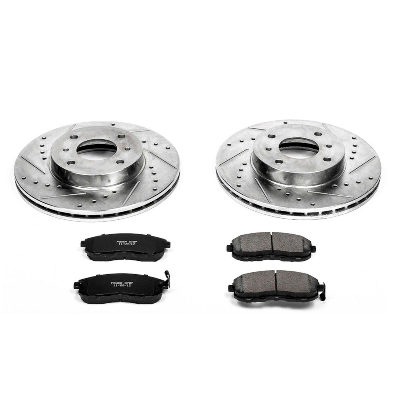 For Infiniti Sentra G20 Rear Drilled /& Slotted Brake Rotors /& Ceramic Pads