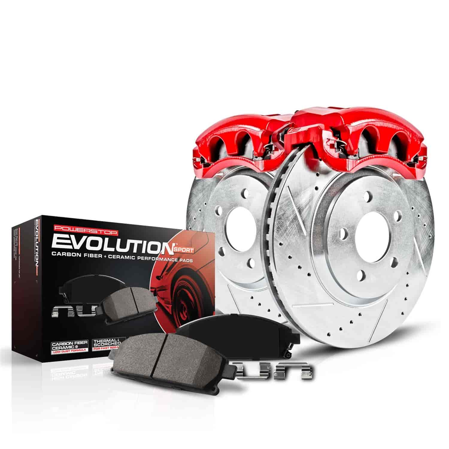Brake Rotors Brake Pads Brake Calipers Power Stop KC2421 Z23 Evolution Front Brake Caliper Kit