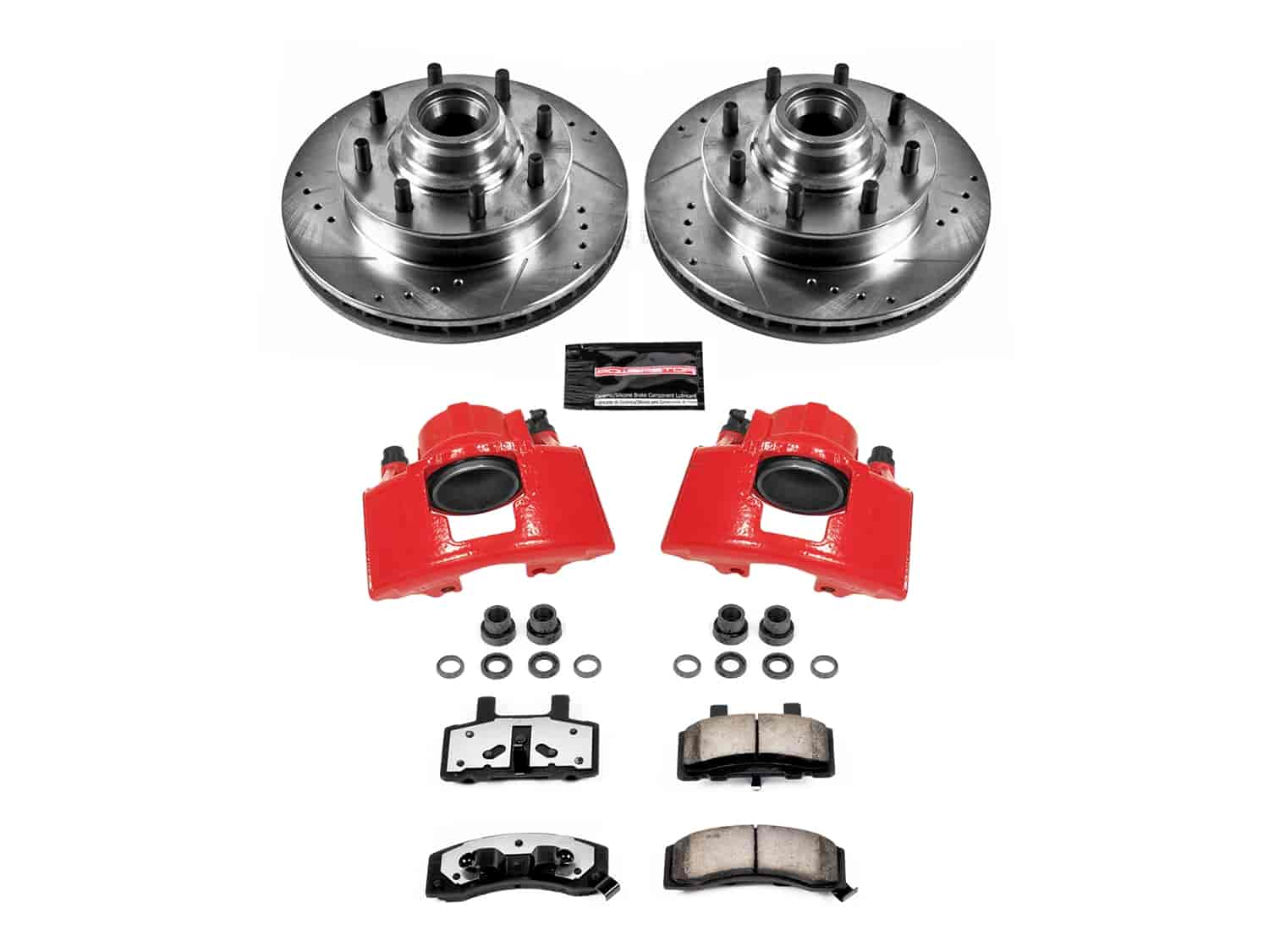 1992 1993 1994 1995 For GMC K2500 Suburban Front Brake Rotors and Pads 8 Lug