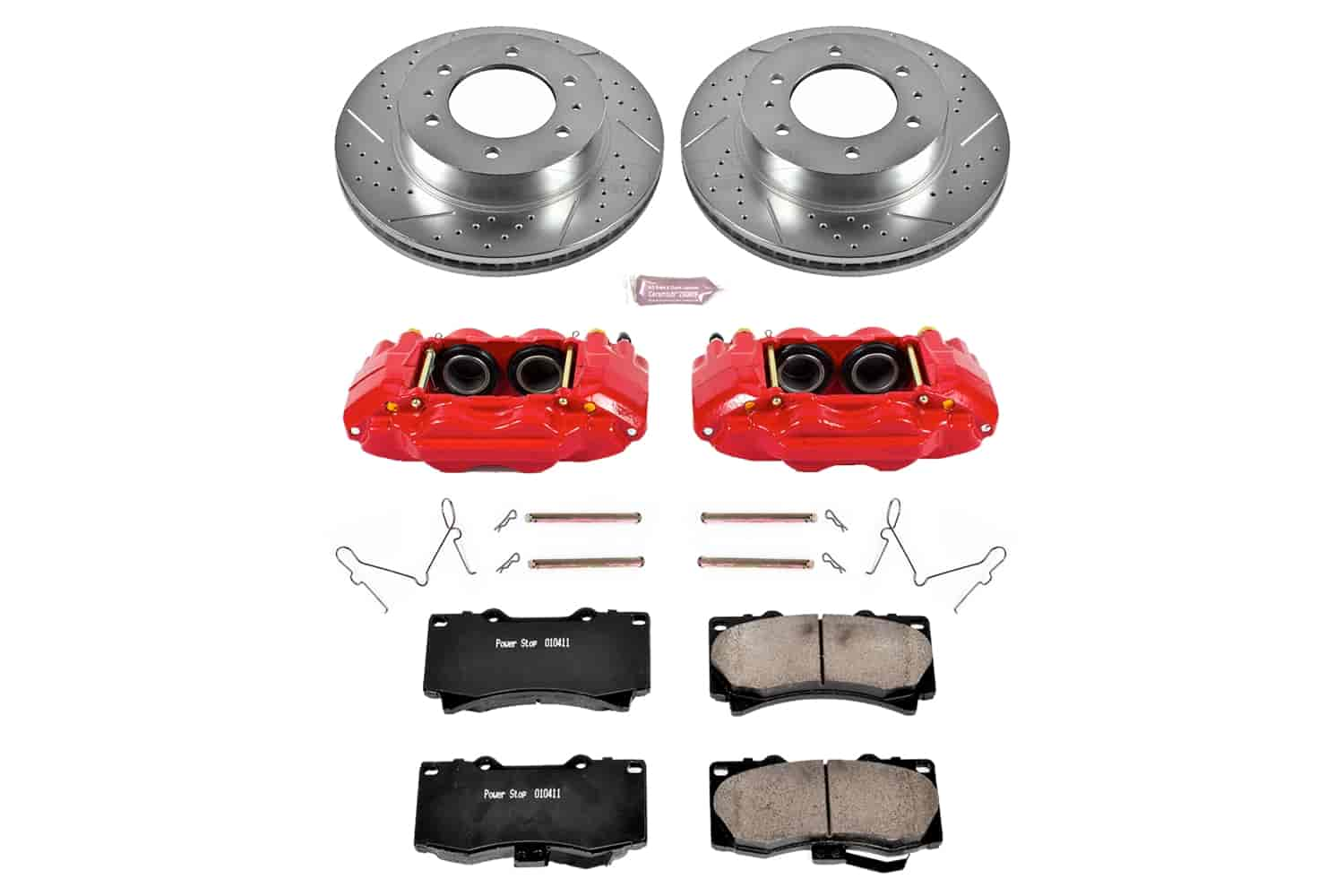 Front Brake Rotors And Metallic Pads For 2006 2007 2008 2009 2010 Hummer H3 H3T