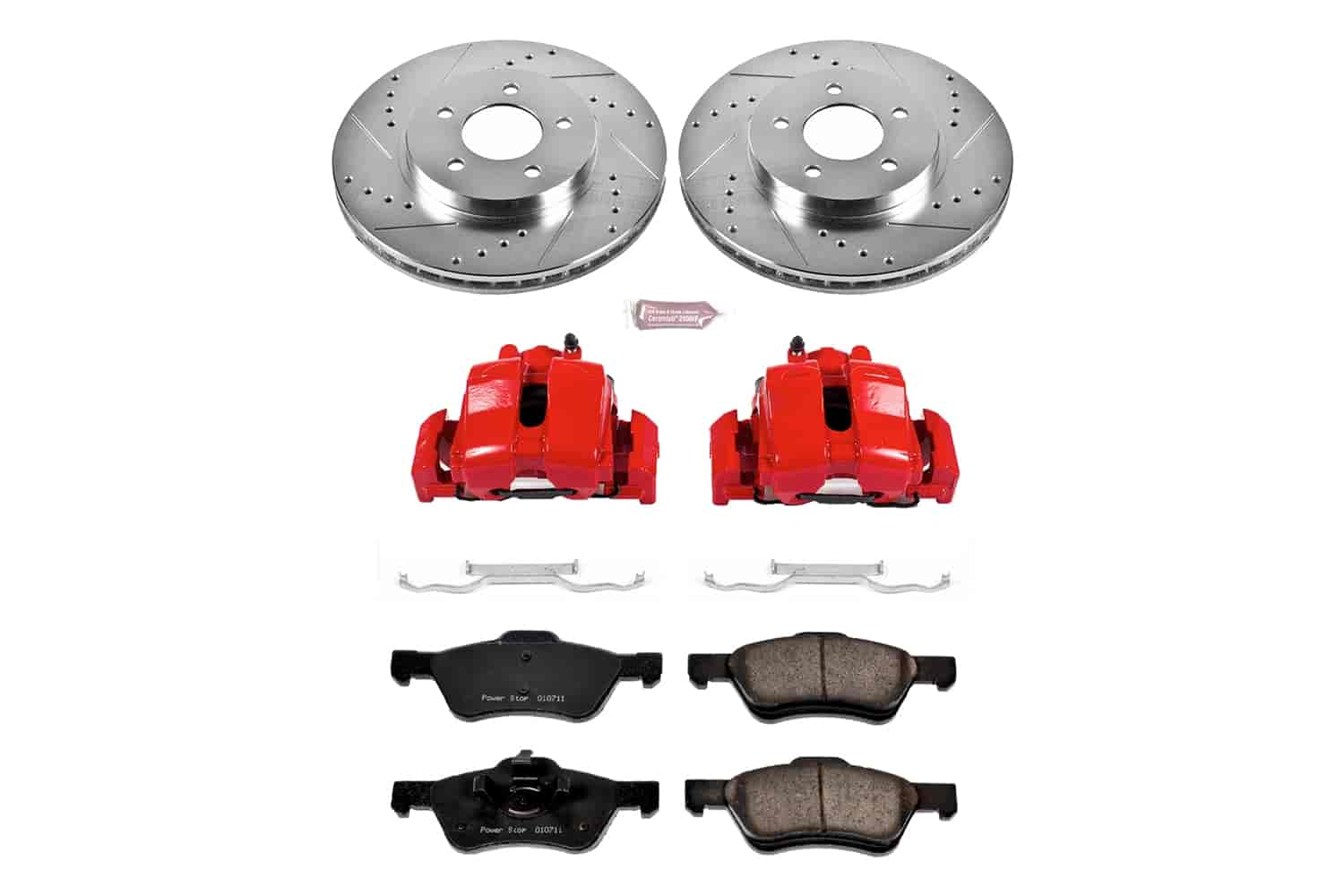 Power Stop Kc4580 1 Click Kit W Calipers Front 2005 2006