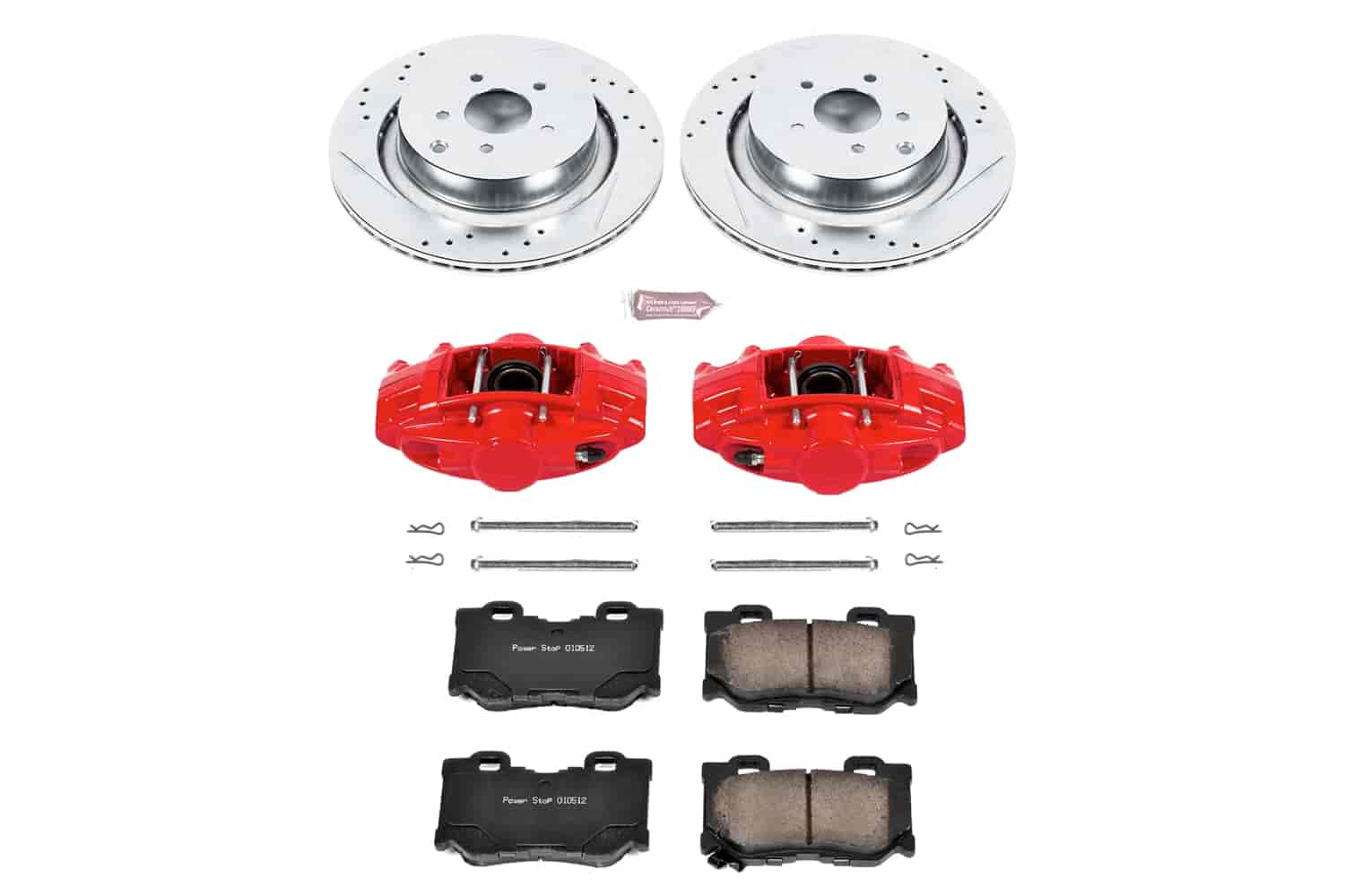 Front Cross-Drilled Slotted Brake Rotors Disc and Ceramic Pads M35h,M37