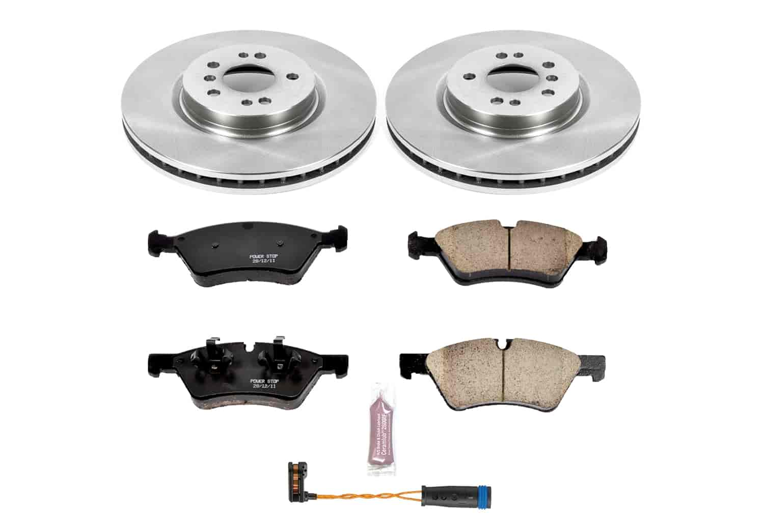 Front Brake Rotors And Ceramic Pads For Mercedes-Benz ML450 ML550 R320 R350 R500