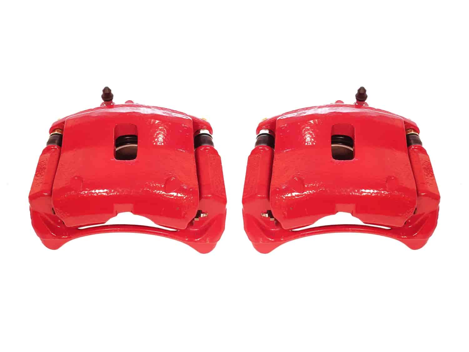 Left And Right Front Red Coated Brake Calipers For And Brackets