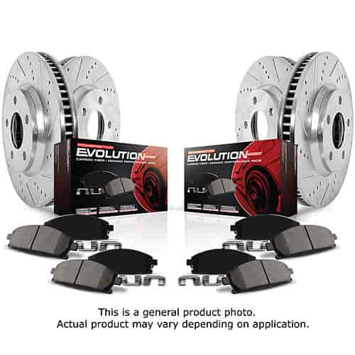 Power Stop K1122 - Power Stop Evolution Sport Z23 Complete Brake Pad & Rotor Kits