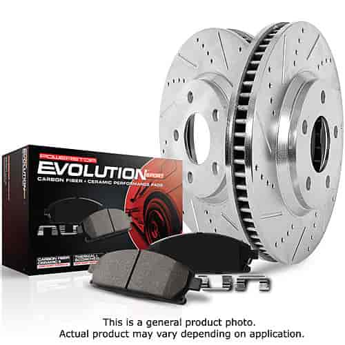 Power Stop K1304 - Power Stop Evolution Sport Z23 Complete Brake Pad & Rotor Kits