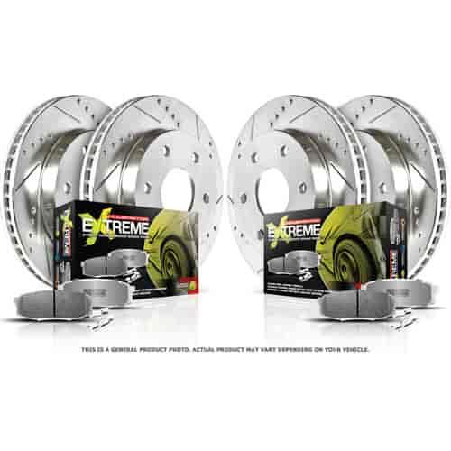 Power Stop K092-26 1-Click Street Warrior Z26 Brake Kit