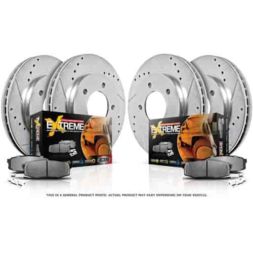 Power Stop K1887-36 - Power Stop Truck and Tow Z36 Complete Brake Pad & Rotor Kits