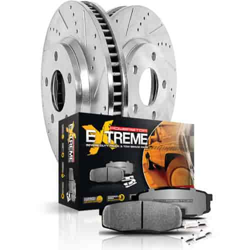 Power Stop K2442-36 - Power Stop Truck and Tow Z36 Front Brake Pad & Rotor Kits