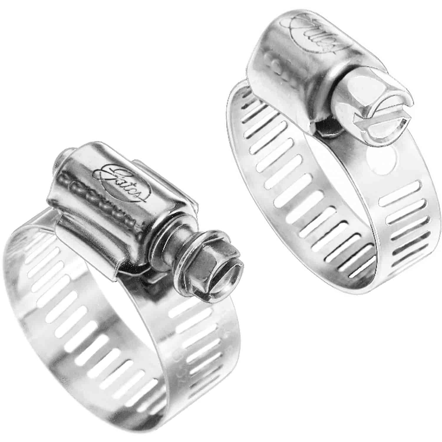 Gates stainless steel hose clamps size