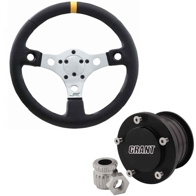 Grant 3700K4 UTV Golf Cart Steering Wheel and Quick Release