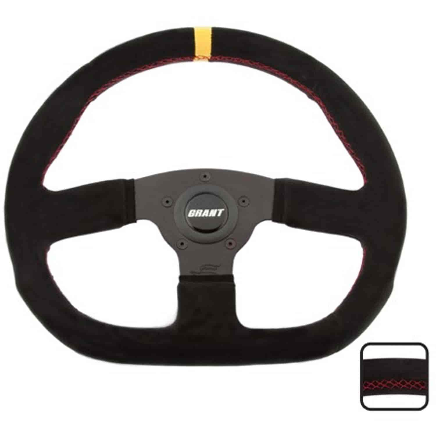 Grant 8548 Suede Series Steering Wheel Black Anodized