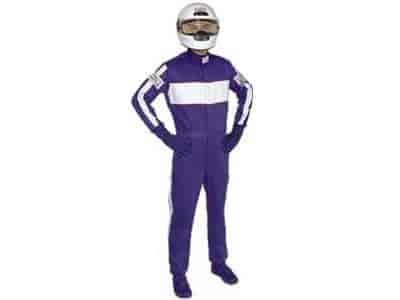 G-FORCE 4380SMLBU - G-FORCE SFI-5 GF505 Triple-Layer One-Piece Driving Suit