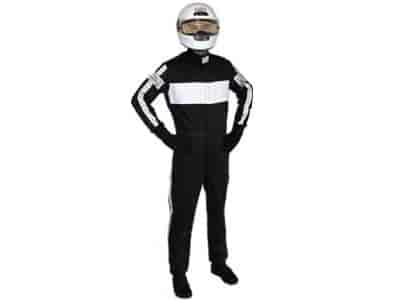 G-FORCE 4380XXLBK - G-FORCE SFI-5 GF505 Triple-Layer One-Piece Driving Suit