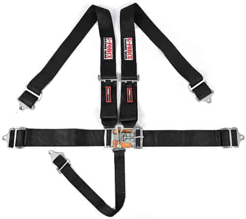 G-FORCE 6000BK: Pro-Series Latch & Link 5-Point Individual Harness